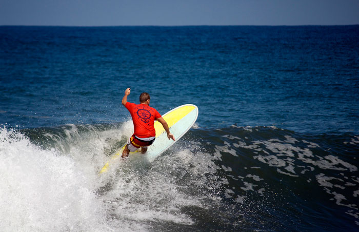 Jacob Shields surfing in Mexico.