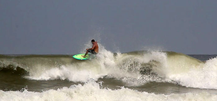 Never take the 1st cut in at Indy's at low tide. There are cuts in the reef that offer a way onto the beach from the lineup instead of paddling down to Maria's. In between the 1st cut and the 2nd there was dry reef and it shredded the nose of my beloved board, doh. The space between the 2nd cut and the 3rd is much deeper.